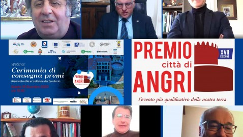 Premio Città di Angri: successo anche per l'edizione on line.  Al webinar conclusivo presenti centinaia di ragazzi